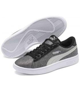 Puma Smash v2 Glitz Glam Puma Calzado Casual Junior Lifestyle Tallas: 36, 37, 38, 39; Color: gris