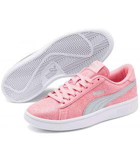 Puma Smash v2 Glitz Glam Rosa Puma Calzado Casual Junior Lifestyle Tallas: 36, 37, 38, 39; Color: rosa