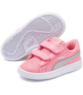 Puma Smash v2 Glitz Glam V Inf Rosa Puma Calzado Casual Baby Lifestyle